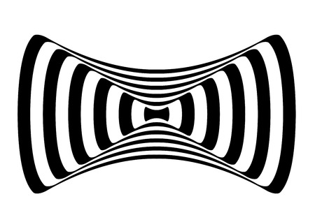 hypnotism: Black and White Hypnotic Fascinating Abstract Image.
