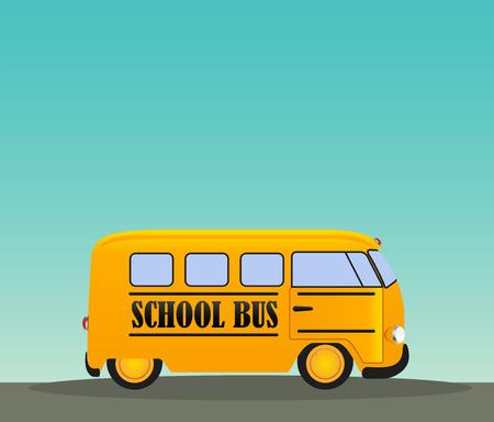 yellow schoolbus: School Bus in Road.