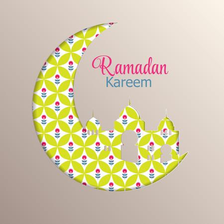 namaz: Background for Muslim Community Festival Ramadan Rareem. Illustration