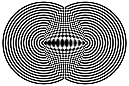 fascinating: Black and White Hypnotic Fascinating Abstract Image.
