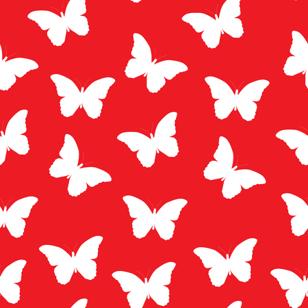 butterfly background: Butterfly Seamless Simple Pattern Background