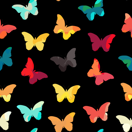 lightweight ornaments: Butterfly Seamless Simple Pattern Background Vector