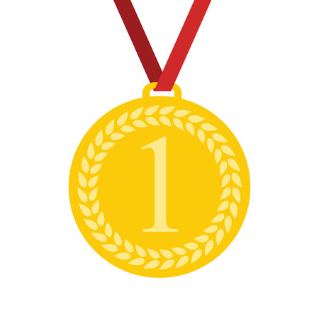 1 place: Art Flat Medal Icon for Web. Medal icon app. Medal icon best. Medal icon sign. Medal icon 1 First Place Gold.