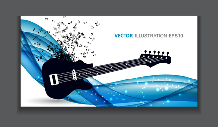 music background: Abstract Music Background Illustration