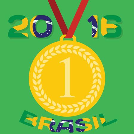 olimpic: Gold medal . Vector Illustration. Illustration