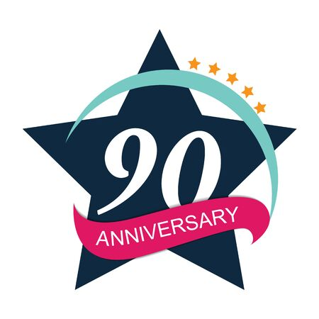 selebration: Template  90 Anniversary Vector Illustration
