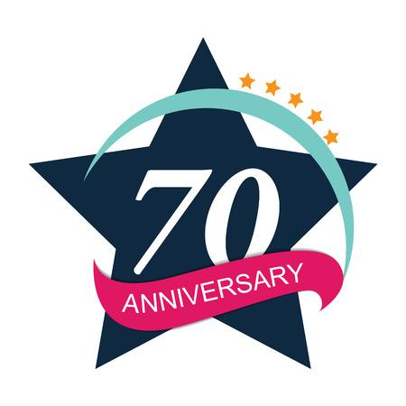 selebration: Template  70 Anniversary Vector Illustration