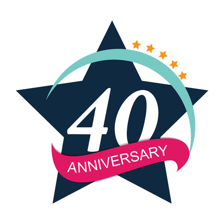 selebration: Template  40 Anniversary Vector Illustration