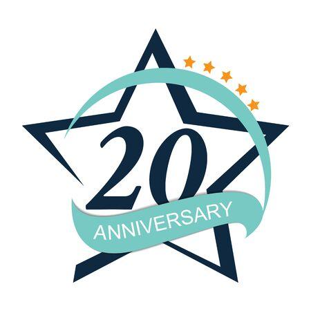 Template 20 Anniversary Vector Illustration