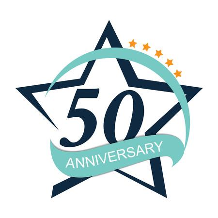 Template 50 Anniversary Vector Illustration