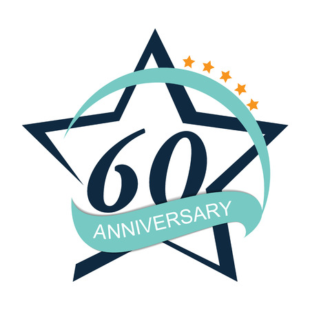 60: Template 60 Anniversary Vector Illustration