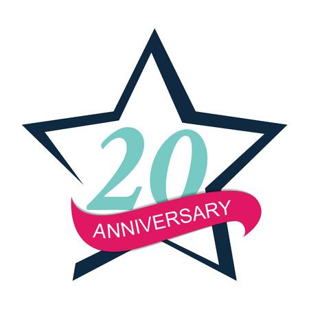 selebration: Template Logo 20 Anniversary Vector Illustration EPS10