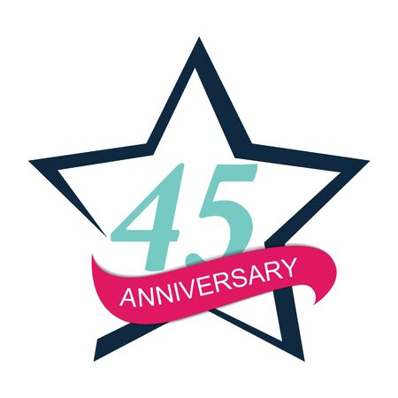 selebration: Template  45 Anniversary Vector Illustration
