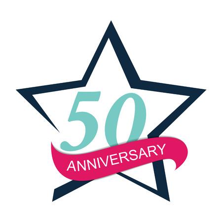 50: Template  50 Anniversary Vector Illustration Illustration
