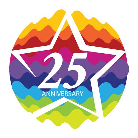 Template  25 Anniversary Vector Illustration Illustration