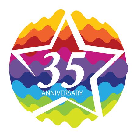 Template  35 Anniversary Vector Illustration