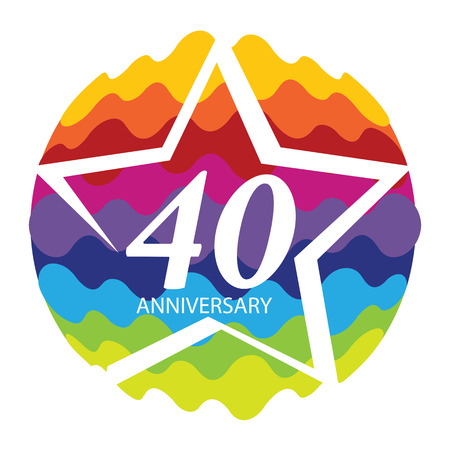 40: Template 40 Anniversary Vector Illustration Illustration