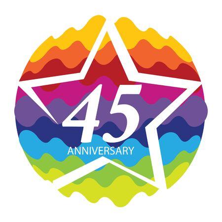 Template  45 Anniversary Vector Illustration