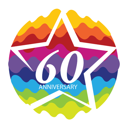 selebration: Template   60 Anniversary Vector Illustration