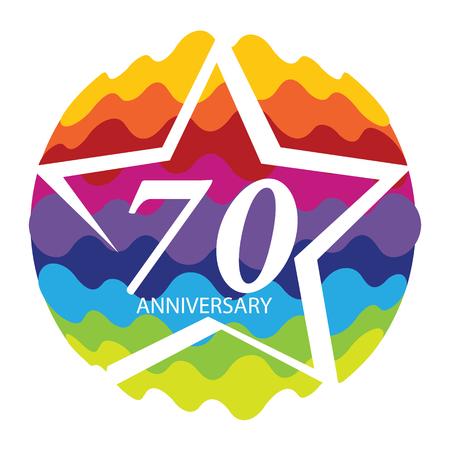 selebration: Template 70 Anniversary Vector Illustration Illustration