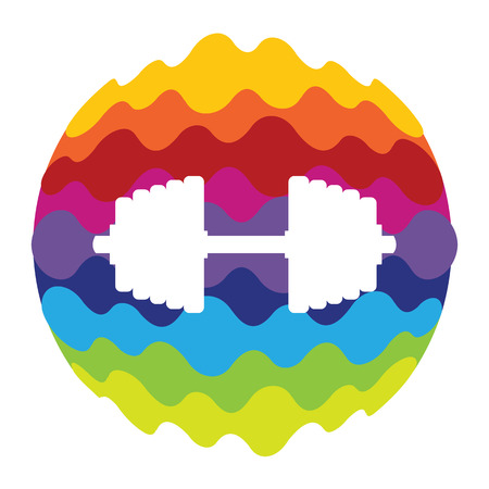 Sport Rainbow Color Icon for Mobile Applications and Web Vector Illustration