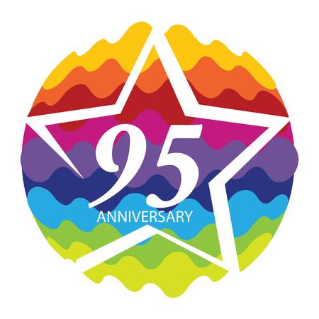 anniversary vector: Template   95 Anniversary Vector Illustration