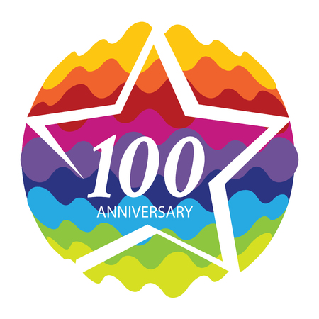 selebration: Template 100 Anniversary Vector Illustration Illustration