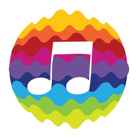 Music Rainbow Color Icon for Mobile Applications and Web Vector Illustration