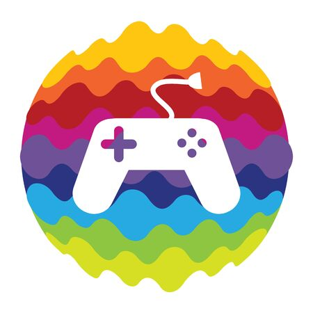 Game and Fun Rainbow Color Icon for Mobile Applications and Web Vector Illustration