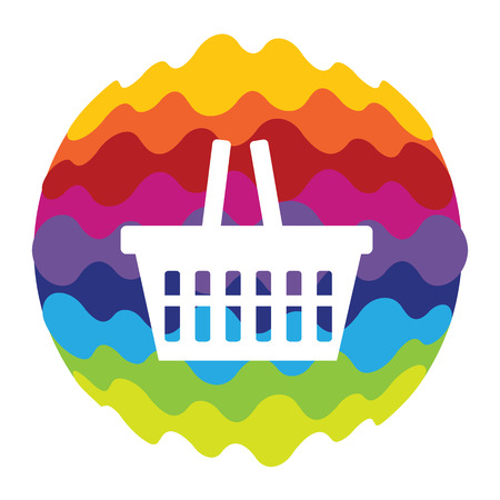 Shopping Bag Rainbow Color Icon for Mobile Applications and Web EPS10