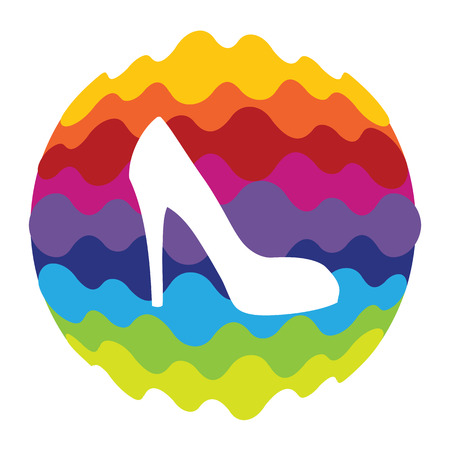 Shoes Rainbow Color Icon for Mobile Applications and Web Illustration