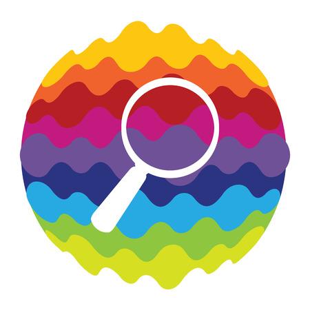 Recherche Icône de couleur arc-en-ciel pour les applications mobiles et le Web
