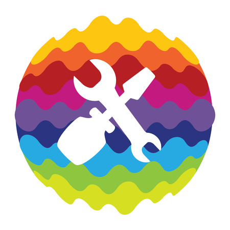 Setting Rainbow Color Icon for Mobile Applications and Web Illustration