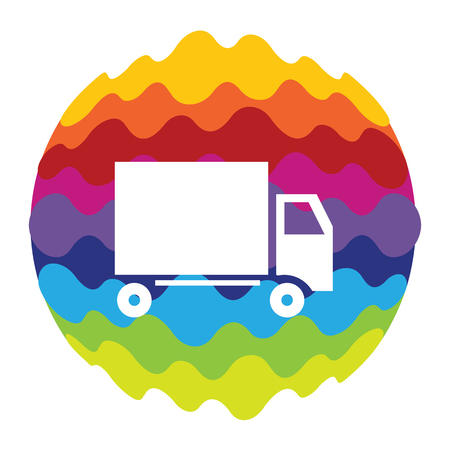 Delivery Rainbow Color Icon for Mobile Applications and Web
