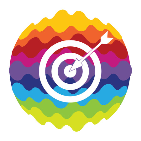 Target Rainbow Color Icon for Mobile Applications and Web Illustration