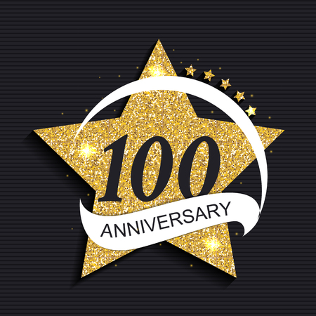 selebration: Template 100 Anniversary Vector Illustration Illustration
