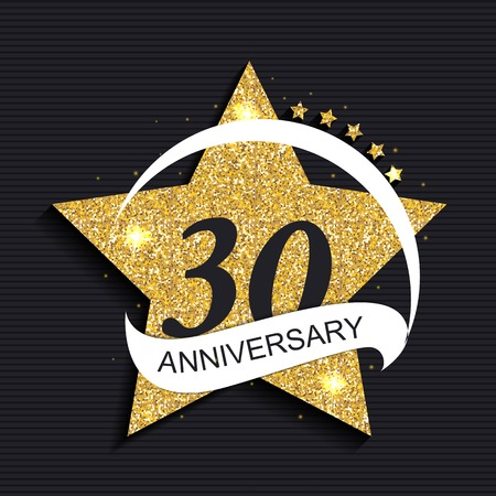 selebration: Template 30 Anniversary Vector Illustration