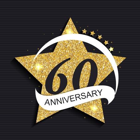 Template 60 Anniversary Vector Illustration