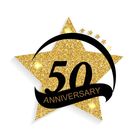 Template 50 Anniversary Vector Illustration