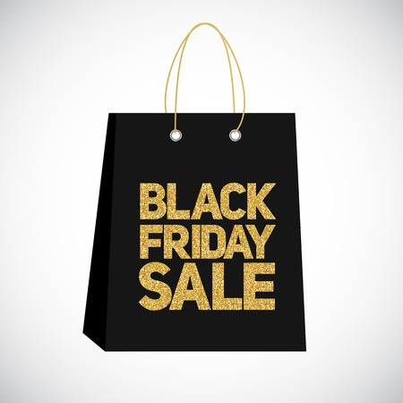 miserly: Black Friday Sale Label Bag Vector Illustration Illustration