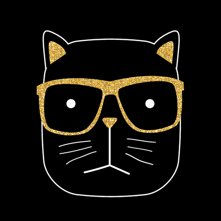anger abstract: Cute Hand drawn Cat Vector Illustration