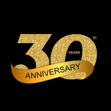 30th: Template 30th Anniversary Vector Illustration