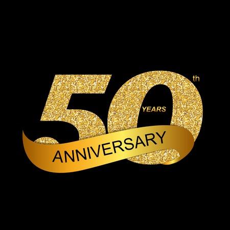50. Jahrestag Vector Illustration Standard-Bild - 63587504