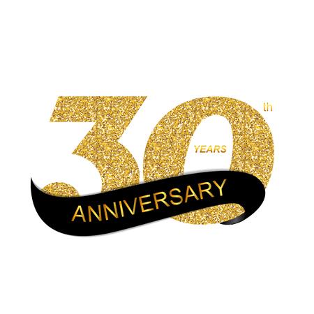 30th: 30th Anniversary Vector Illustration Illustration