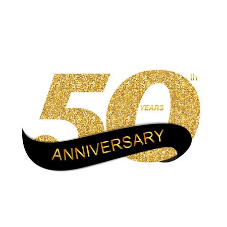 insignias: Ilustración 50 Aniversario del vector