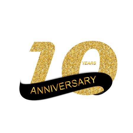 10th: 10th Anniversary Vector Illustration