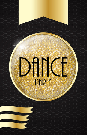 disk jockey: Vertical Dance Party Flyer Background with Place for Your Text. Vector Illustration. Illustration