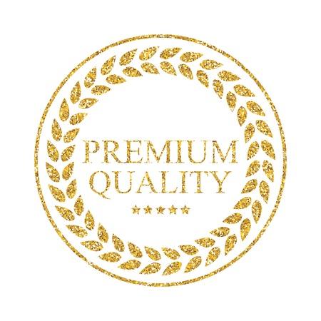 laureate: Art Golden Medal Icon Sign Premium Quality Vector Illustration