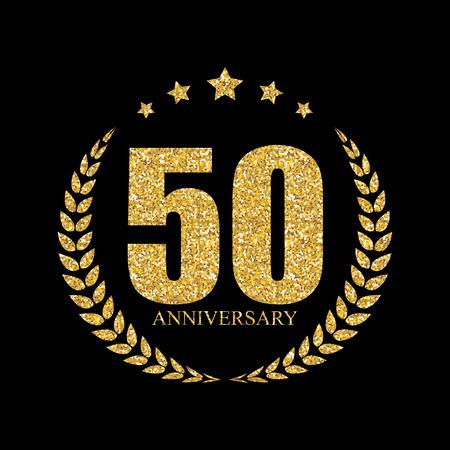 Vorlage 50 Years Anniversary Vector Illustration Standard-Bild - 63817589