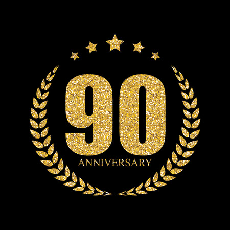 90: Template  90 Years Anniversary Vector Illustration